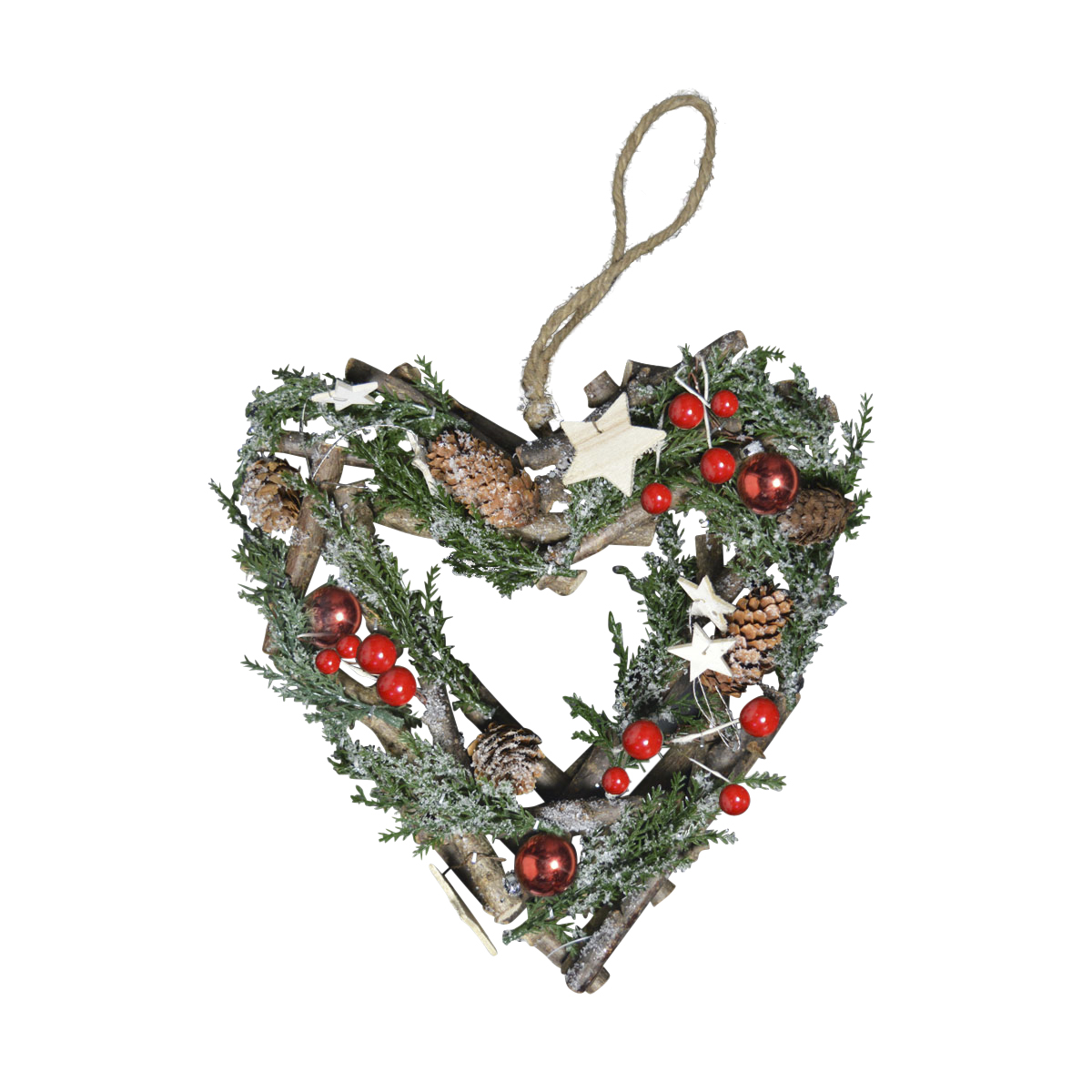Christmas cm heart shaped wreath traditional