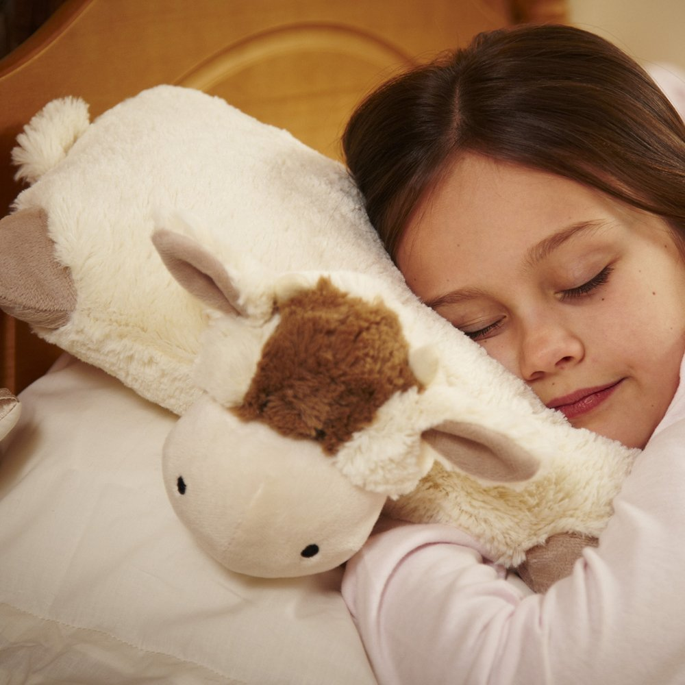 Animal Folding Pillows : Nursery Products Pillow Heads Folding Travel Cushion Animal - Cow - Ramsdens Direct