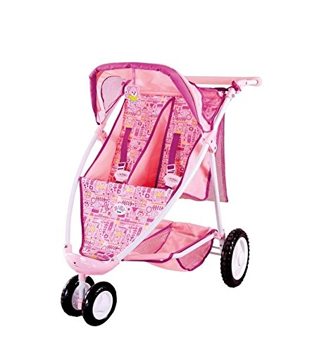 Girls Toys Baby Born Twin Dolls Pram Stroller Ramsdens