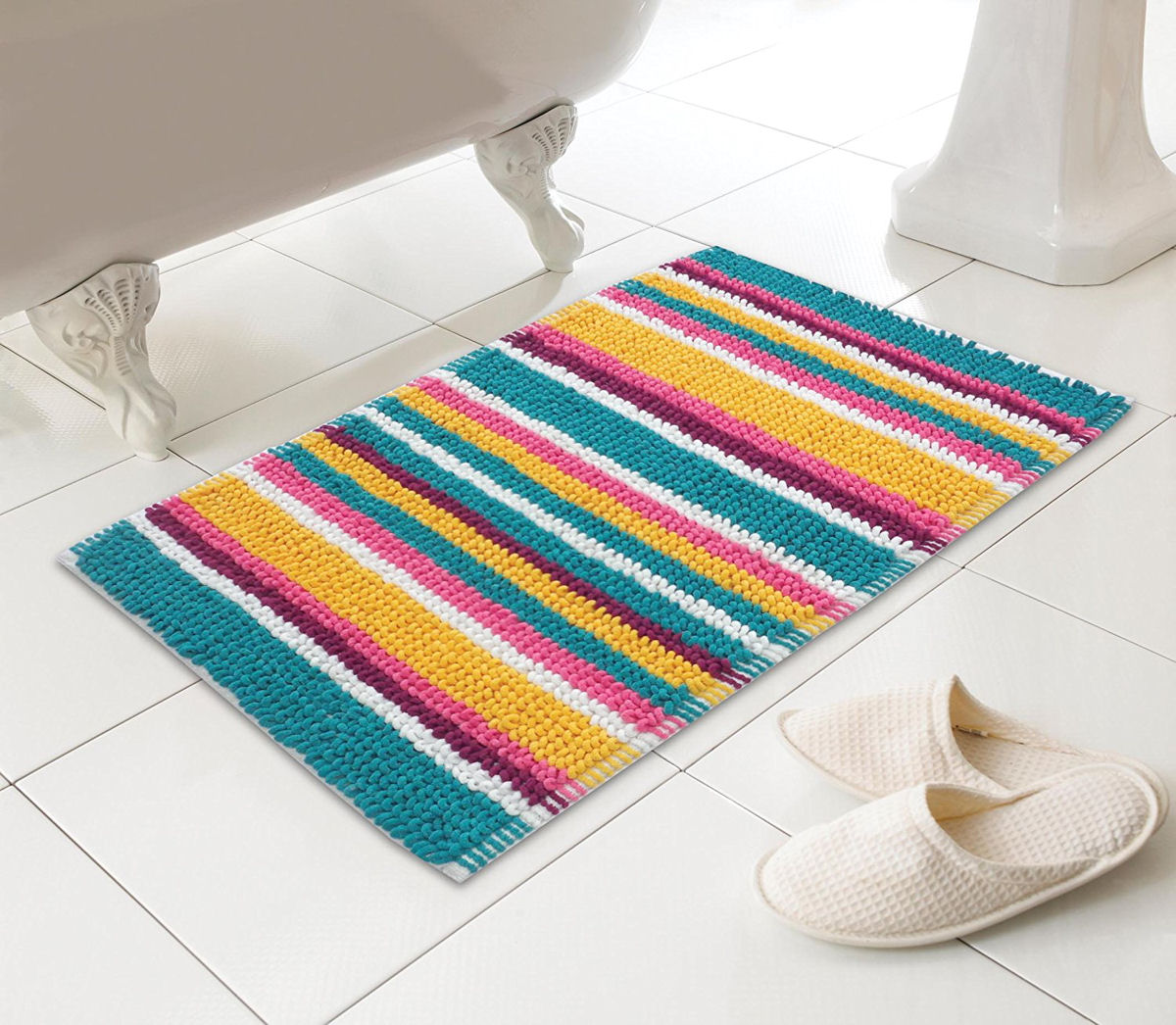 Micro Bobble Soft Fabric Bathmat 50 X 80 Cm Choice Of