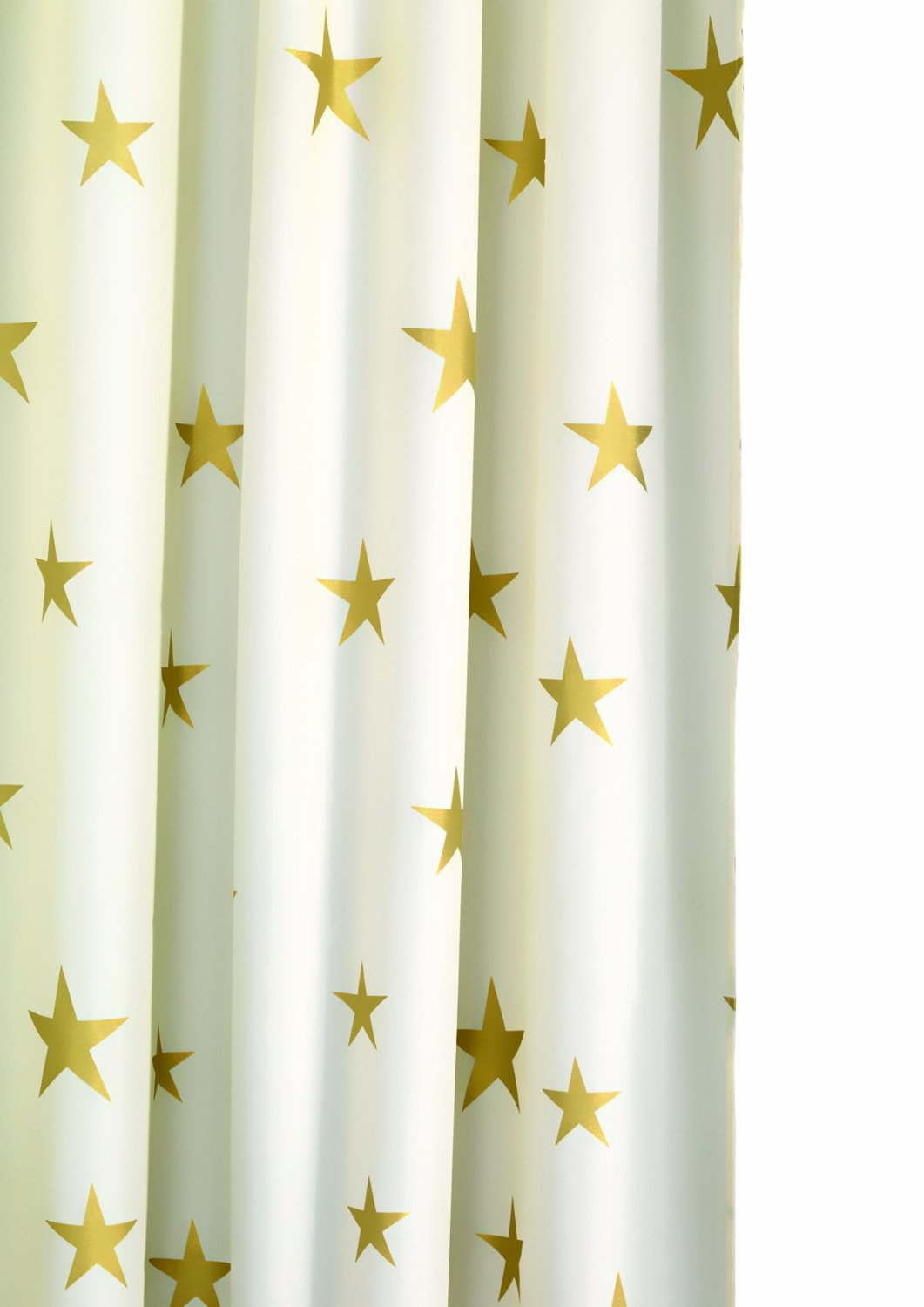 Textiles Croydex Textile Shower Curtain 180 X 180 Cm Gold Stars Ramsdens Direct