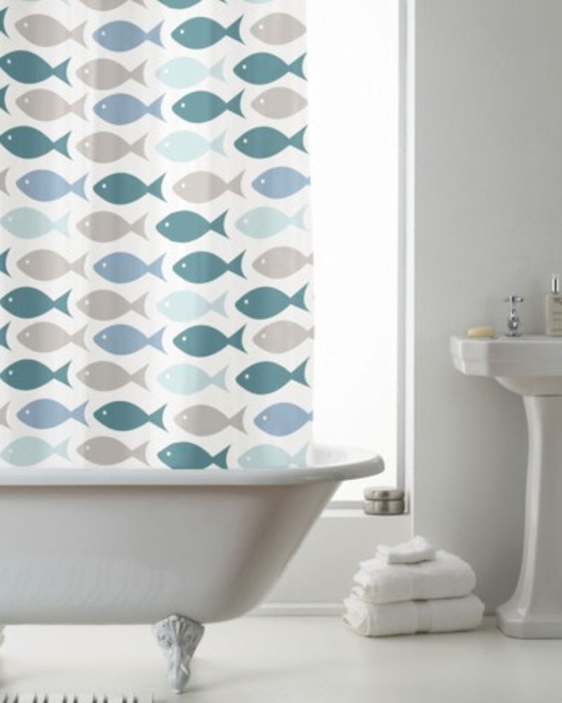 Shower curtain fish 28 images fish n sharks 72 in mini for Fish shower curtain