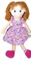 "Emily 65cm / 26\"" Large Traditional Rag Dolly. - Pink"