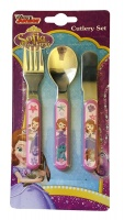 Disney Sofia the First : 3 Piece Stainless Steel Metal Cutlery S