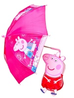 Peppa Pig - Peppa Shaped Rucksack & Umbrella
