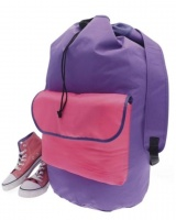 Laundry Backpack Duffel Bag .  ( Pink / Purple )