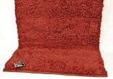 Thick Pile Luxury Faux Wool Shaggy Rug. 90 x 150 cm - Cranberry