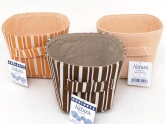 Natura . Set of 3  Small Fabric Storage Bins with Handles ( 15.2