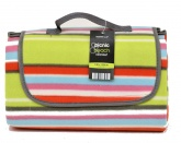 Calypso Stripe Picnic Blanket with Waterproof Backing and Carry