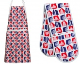 London 2012. Cotton Apron & Double Oven Glove Set