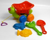 Chunky Plastic Beach Turtle Toy and Accessories