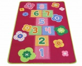 Colorama Slip-resistant Playmat - Gingham Hopscotch Rug ( 80 x 1
