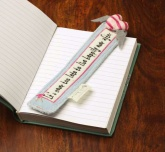 Born to Shop Bookmark - Love Heart Design . Vanilla Scented