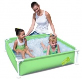 "Bestway My First Frame Paddling Pool. 48"" x 48\"". Green"