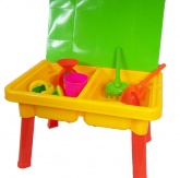 Sand and Water Play Table + Toys (Childrens Garden Toy)
