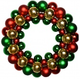 Bauble Christmas Wreath ( multicoloured Traditional ) 34cm