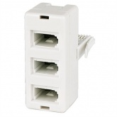 Triple Telephone Adaptor (3 way). 3 devices from socket