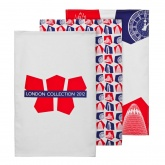 London 2012. Contemporary Design 3 Piece Tea Towel Set (100% cot