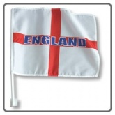 "England St Georges Cross Car Flag 15"" X 10\"" 2 Pack"