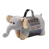 Cozy Cushions. Heatable Folding Animal Cushion. -  Elephant
