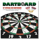 "18"" Official Size Dartboard & 6 Darts"