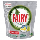 Fairy Platinum All-in-One Lemon Dishwasher Tablets