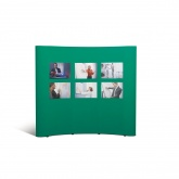 Nobo Curved Concertina Wall Display with Carrycase. Lightweight