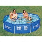 Bestway Octagonal metal Frame family paddling pool 96""