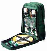 Picnic Backpack Set. Insulated Rucksack with 2 Place Settings