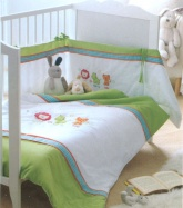 Lenny, Harry & Tilly. 3 Piece Cot Bedding Set.