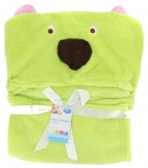 First Steps Hooded Baby Blanket ( 65 x 85 cm ) - Green