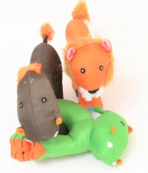 Tough Toys for Dogs - Pack of 3 Wild Animals
