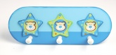 Tidlo Trio of Stars Wooden Childrens Coat Pegs / Hooks