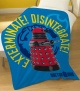 Dr Who Dalek Exterminate Fleece Blanket ( 120 x 150 cm)