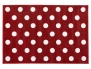 Kit for Kids Red / White Polka Dot Rug for Bedroom / Playroom (