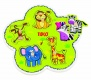 Tidlo Lift & Match Jungle Animals Wooden Peg Puzzle ( 12m +)