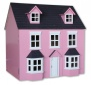 Pink Traditional Georgian Style 1:12 Scale Wooden Dolls House