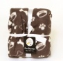 Pooch Products. Cosy Fleece Pet Blanket - 120 x 120 cm - Chocola