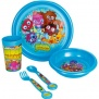 Moshi Monsters 5 Piece Plastic Children's Tableware set ( Plate,