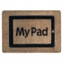 My Pad Doormat . Quirky Tablet Styled Coconut Husk Mat 60 x 40 c