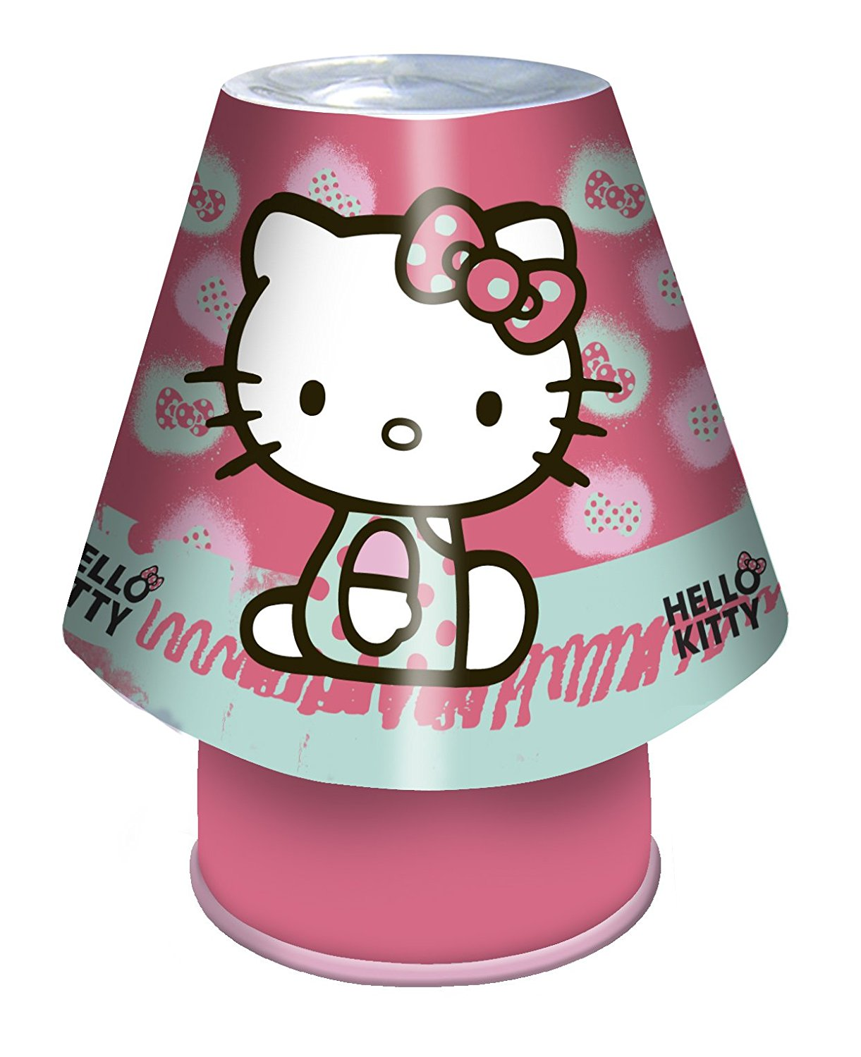 electrical goods hello kitty kool lamp children 39 s mains bedside light enclosed ramsdens direct. Black Bedroom Furniture Sets. Home Design Ideas