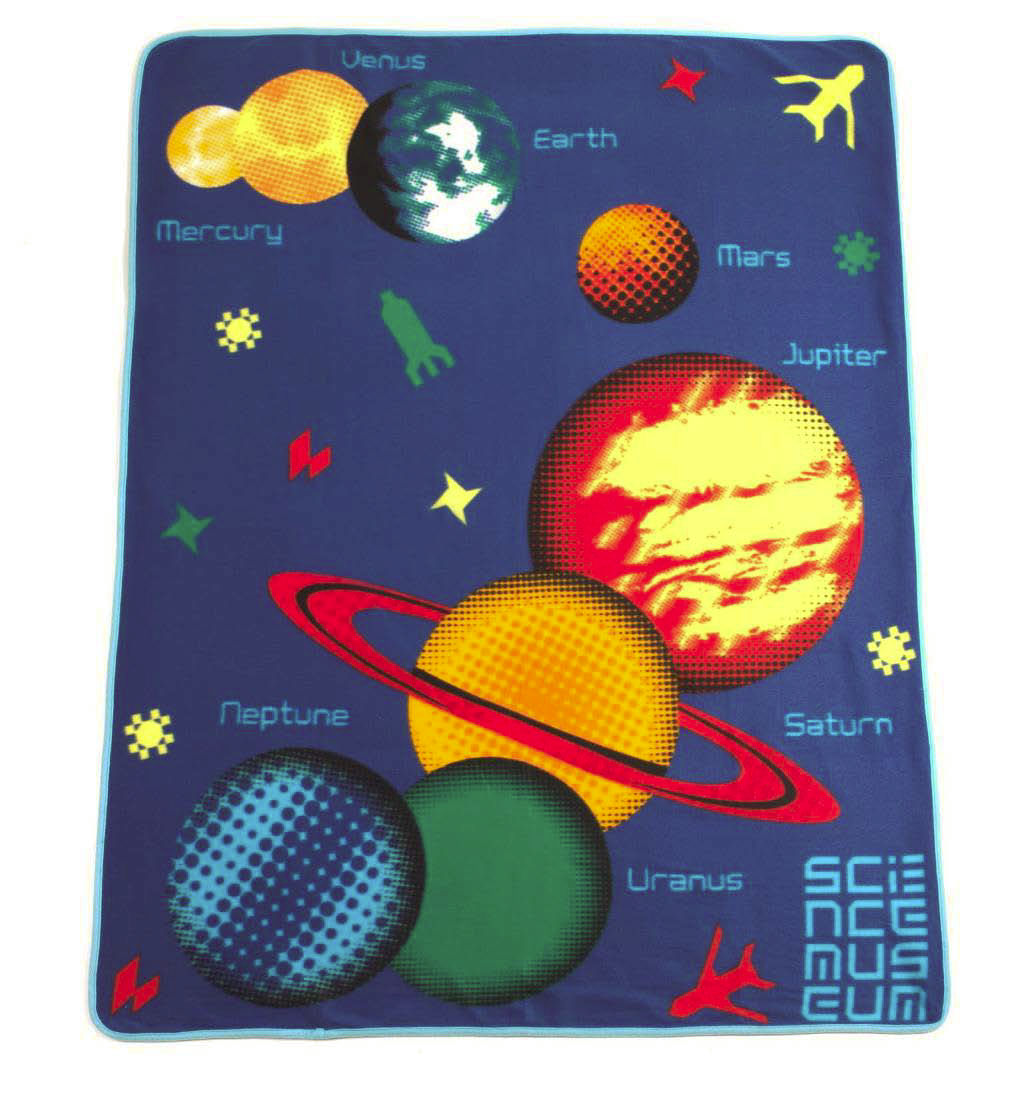science museum children 39 s space design fleece blanket