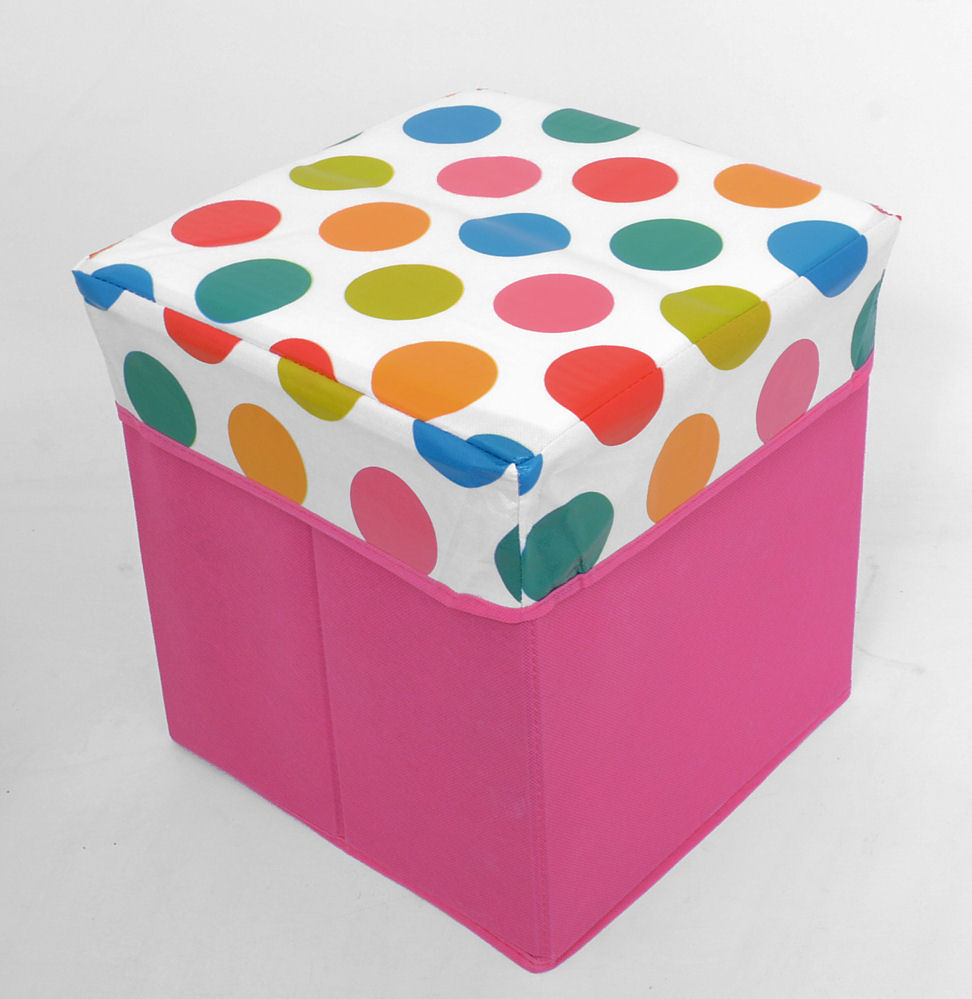 Square Storage Box Chest / Toy Box with Padded Lid ( 30 x ...