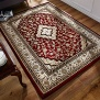 Flair Rugs Ottoman Temple Traditional Hand Carved Rug, Red, 80 x